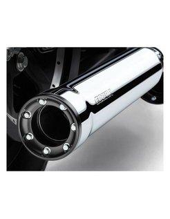 RPT Slip-On Mufflers Chrome or Black For 07‑16 FXST/B/C, FLSTC, FXCW/C
