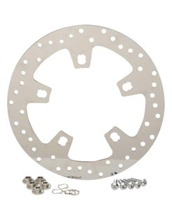 polished stainless steel drilled brake rotor - For 14 - 16 FLHT/ FLHX/ FL TRX