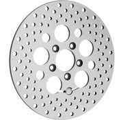 brake rotor polished stainless steel drilled rear - for 08 - 16 FLHT FLHR FLHX FLTR/X