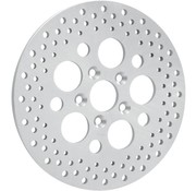 brake rotor polished stainless steel drilled rear - for 81 - 85 FLT FLHT