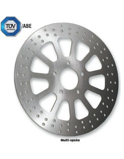 brake rotor multi-spoke Front - 2000-up Big Twin Sportster XL excepts Springers FXDL FXDS FXDX