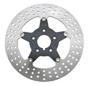 Zodiac brake rotor Floating disc with black center 5-star Front - Fits:> all Big Twin and Sportster XL 1984-1999