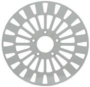 brake rotor Front Klassic Stainless Steel - Fits:> 08‑16 FLHT FLHR FLHX FLTR H‑D FL trike 14‑16 FLHRC 06‑16 Dyna (With 3 25 inch bolt circle)