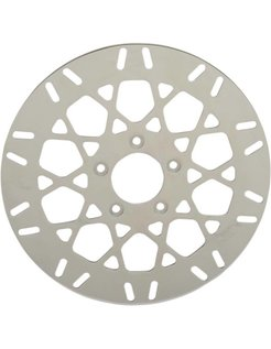 brake rotor Front Mesh Stainless Steel - Fits:> 08‑16 FLHT FLHR FLHX FLTR H‑D FL trike 14‑16 FLHRC 06‑16 Dyna (With 3 25 inch bolt circle)