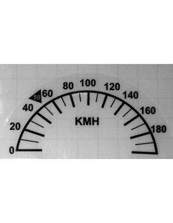 Tacho Neukalibrierung Aufkleber für Harley Davidson Softail, Roadking 1996/2016 10 cm (3 7/8 Zoll)