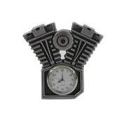 Accessories Motorcycle clock with silver patina finish