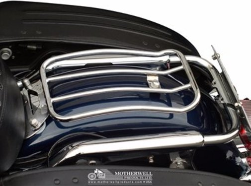 Motherwell luggage rack 7 inch Chrome Solo for Touring FLH/FLT 97-up
