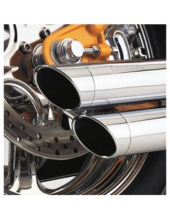 exhaust Speedster Slash Down Chrome - 91-05 Dyna