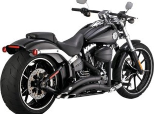 Vance & Hines exhaust Big radius Black Fits:> 13-16 breakout FXSB/SE