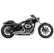 Cobra exhaust  system Swept Speedster shorts with Powerport Chrome - FXSB Breakout 13-16