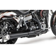 Supertrapp exhaust Supermegs 2 into 1 Black - 2012 to present Dyna except FLD