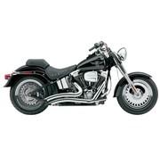 Cobra Exhaust system Speedster Short Swept chrome heat shields; For all 07‑11 FXST/ FLST models,