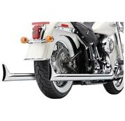 Cobra Système d'échappement vrai Duals avec fishtails Chrome; Pour 12-16 modèles / FXS FLS / FLST