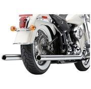 Cobra Exhaust system true Duals with fishtails Chrome; 97-06 FLST/ FXST