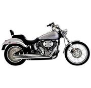 Cobra Exhaust system Speedster Slash Down chrome heat shields; For all 12-16 FXST/ FLST models,
