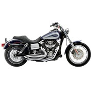 Cobra Exhaust system Speedster Short Swept chrome heat shields; For all 06‑11 Dyna models