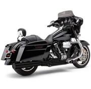 Cobra Exhaust system 2 into 1 black; For 10-16 FLT, FLHT, FLHR, FLHX, FLTR models