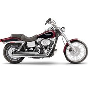 Cobra Exhaust system Speedster Short with Powerport chrome heat shields; For all 06‑11 Dyna models