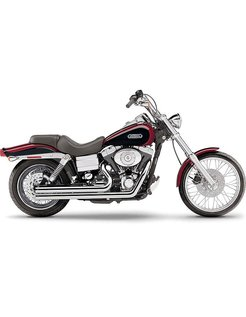 Exhaust system Speedster Short with Powerport chrome heat shields; For all 06‑11 Dyna models