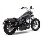 Cobra Exhaust Full System Speedster Short RPT Black; For Dyna 12 - 16 models