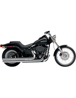 Exhaust system Speedster Long Chrome heat shields; For Softail 1986-2006