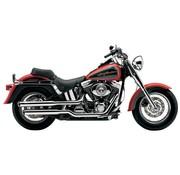 Cobra Harley exhaust 3 inch slip-on mufflers chrome; for 07-16 FLSTF