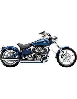 Harley exhaust 3 inch slip-on mufflers chrome; for 07-11 FXCW Rocker