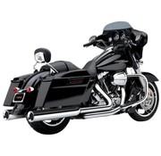 Cobra exhaust Slip-On Muffler Power-Flo Chrome for 95-16 FLHT/ FLHR/ FLHX/ FLTR