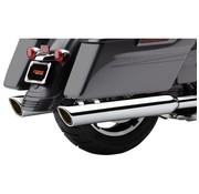 Cobra exhaust Slip-On Twin Mufflers - Chrome for 95-16 FLHT/ FLHR/ FLHX/ FLTR