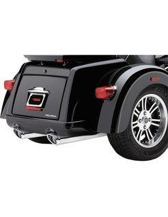 exhaust Slip-On Twin Mufflers - Chrome for Tri-glide