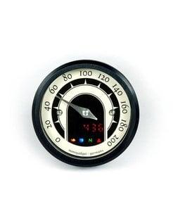 Motoscope tiny 49mm analoge Tacho - Klassik, Schwarz oder poliert