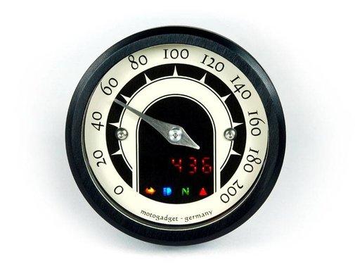 Motogadget Speedo Motoscope tiny 49mm analog speedo - Classic Black or Polished