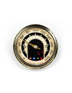 Motoscope tiny 49mm analog speedo - Vintage Brass bezel