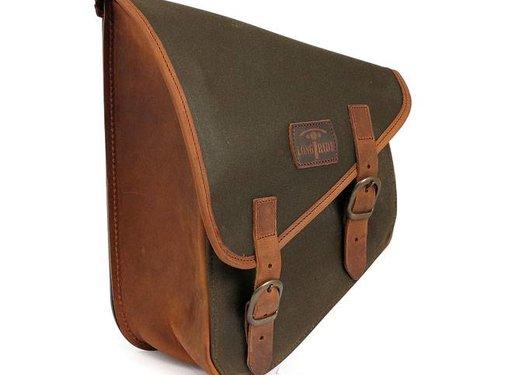 Longride bags waxed cotton swingarm bag