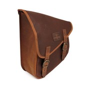 Longride bags waxed cotton swingarm bag - brown