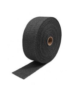 "2 ""Black 50Ft Auspuffkrümmer Fiberglas Hitze Wrap Klebeband + 8 Krawatten Kit"