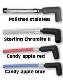 braided spark plug wires - various Colors