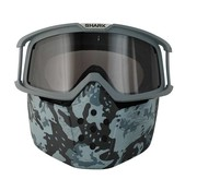 Shark raw mask and goggle kit camo