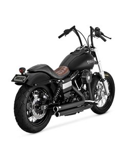 Staggered exhaust with power chamber 2006-2017 Dyna (exclude FLD)
