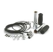 Springer handlebar throttle kit - 35-48 UL/EL/WL; & early springer bars with linkert carburetor