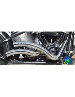 EURO 3 approved HOT SHOT exhaust model Wave, fits1984-2016 Softail, except FXCW, FXCWC, and FXSB