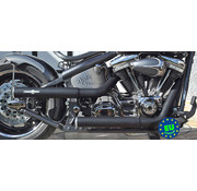 BSL exhaust EURO 3 approved HOT SHOT model Shotgun Fits:>1984-2016 Softail except FXCW FXCWC and FXSB
