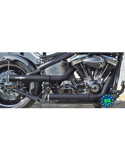 EURO 3 approved HOT SHOT exhaust model Shotgun, fits1984-2016 Softail, except FXCW, FXCWC, and FXSB