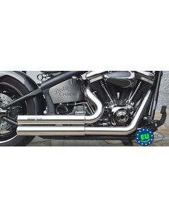 EURO 3 approved HOT SHOT exhaust model Top Chopp, fits 1984-2016 Softail, except FXCW, FXCWC, and FXSB