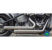 BSL exhaust EURO 3 approved HOT SHOT model Top Chopp Staggered Fits:> 1984-2016 Softail except FXCW FXCWC and FXSB