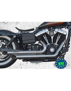 exhaust EURO 3 approved HOT SHOT model Top Chopp Spoon Fits:> 2008-up Fat Bob Street Bob and Dyna Wide Glide