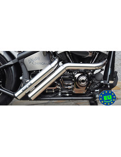 EURO 3 approved HOT SHOT exhaust model Firestarter, Fits 1984 2017 Softail, except FXCW, FXCWC, and FXSB