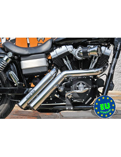 EURO 3 approved HOT SHOT exhaust model Firestarter, Fits 2008-up Street Bob, Fat Bob and FXDWG Dyna Wide Glide