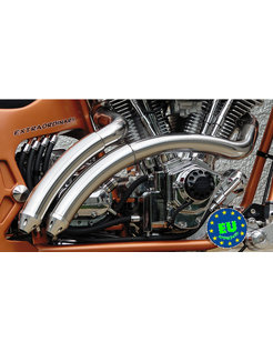 EURO 3 approved HOT SHOT exhaust model Rainbow, Fits 1984 2017 Softail, except FXCW, FXCWC, and FXSB
