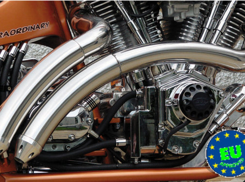 BSL exhaust EURO 3 approved HOT SHOT model Rainbow Fits:> 1984 2017 Softail except FXCW FXCWC and FXSB